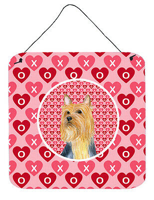Silky Terrier Valentine's Love and Hearts Wall or Door Hanging Prints