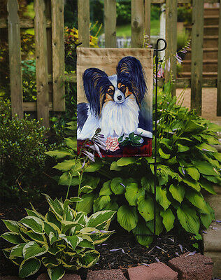 Carolines Treasures  7037GF Papillon A Rose for you Flag Garden Size