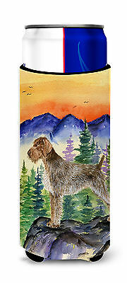 German Wirehaired Pointer Ultra Beverage Insulators for slim cans