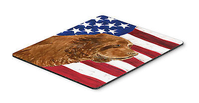 USA American Flag with Sussex Spaniel Mouse Pad, Hot Pad or Trivet