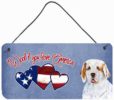 Woof if you love America Clumber Spaniel Wall or Door Hanging Prints