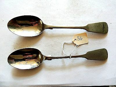 "Antique Classic  ""J.R. & S."" Pair Of Hallmarked Spoons"