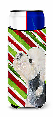 Dandie Dinmont Terrier Candy Cane Holiday Christmas Ultra Beverage Insulators fo