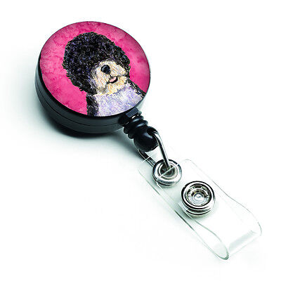 Portuguese Water Dog  Retractable Badge Reel or ID Holder with Clip SS4766