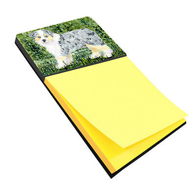 Australian Shepherd Refiillable Sticky Note Holder or Postit Note Dispenser