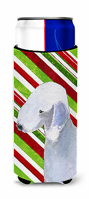 Bedlington Terrier Candy Cane Holiday Christmas Ultra Beverage Insulators for sl