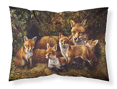 Fox Family Foxes by Daphne Baxter Fabric Standard Pillowcase