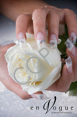 en Vogue Salon Poster - White Rose & Gel Nails (FREE POST)