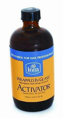 INM Wrapped In Glass Fibreglass/Silk Nail Wrap Activator Refill Bottle (240ml)