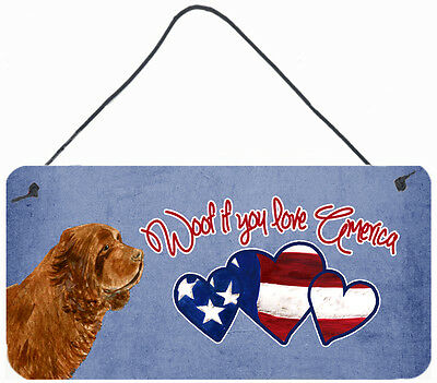 Woof if you love America Sussex Spaniel Wall or Door Hanging Prints