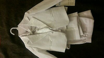 Baby Boy Christening Baptism white Suit/Wedding/ 5 pieces Outfit/Size 18months