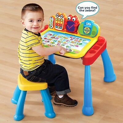 Toddler Activity Table Baby Kids Interactive Vtech Learning Desk Drawing Toy New