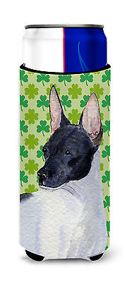 Rat Terrier St. Patrick's Day Shamrock Portrait Ultra Beverage Insulators for sl