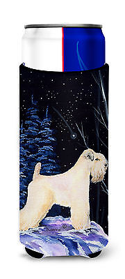 Starry Night Wheaten Terrier Soft Coated Ultra Beverage Insulators for slim cans