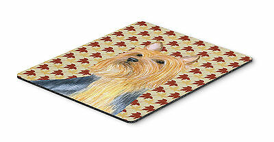 Silky Terrier Fall Leaves Portrait Mouse Pad, Hot Pad or Trivet