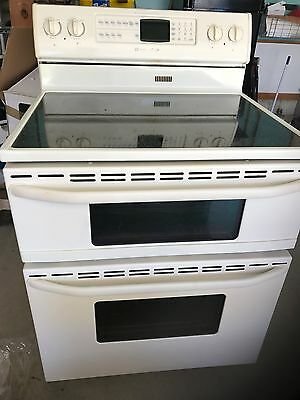 Electric double oven/glastop stove and overhead  microwave