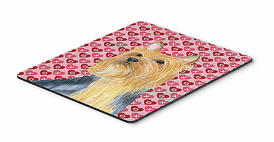 Silky Terrier Hearts Love and Valentine's Day Mouse Pad, Hot Pad or Trivet