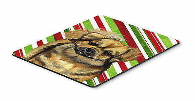 Tibetan Spaniel Candy Cane Holiday Christmas Mouse Pad, Hot Pad or Trivet