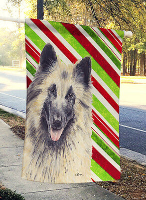 Belgian Tervuren Candy Cane Holiday Christmas Flag Canvas House Size