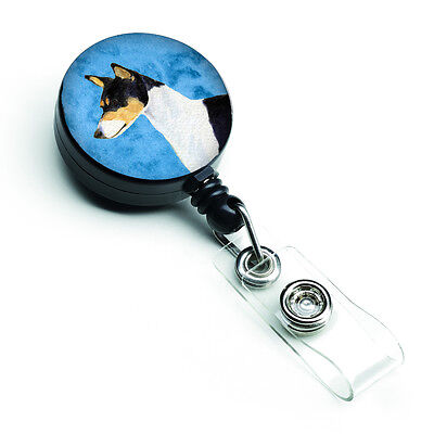 Basenji  Retractable Badge Reel or ID Holder with Clip SS4790