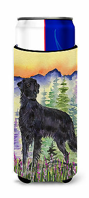 Flat Coated Retriever Ultra Beverage Insulators for slim cans