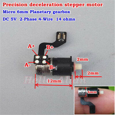 Ultra Micro Mini 6mm Planetary Gearbox Precision 2-phase 4-wire Stepper Motor 5V