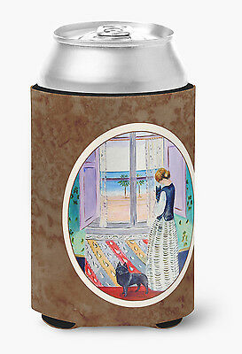 Carolines Treasures  7268CC Lady with her Schipperke Can or Bottle Hugger