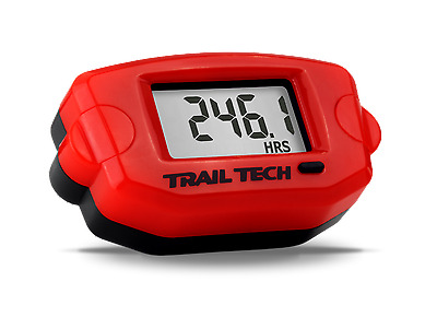 Trail Tech 744-A00 TTO Tach Hour meter RPM and Clock, Red, Rev Counter