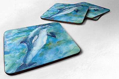 Carolines Treasures  MM6019FC Set of 4 Dolphin Foam Coasters