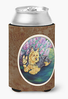 Carolines Treasures  7209CC Australian Terrier and Puppy Can or Bottle Hugger