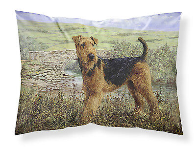 Airedale Terrier The Kings Country Fabric Standard Pillowcase