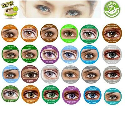 Color Contact Lenses * Lentilles de couleur * 1 year * * FRESH Tone