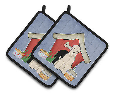 Dog House Collection Soft Coated Wheaten Terrier Pair of Pot Holders