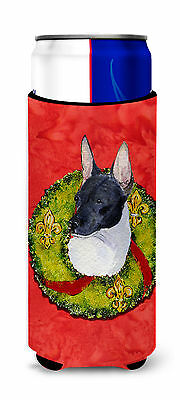 Rat Terrier Cristmas Wreath Ultra Beverage Insulators for slim cans