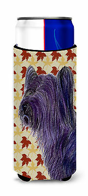 Skye Terrier Fall Leaves Portrait Ultra Beverage Insulators for slim cans