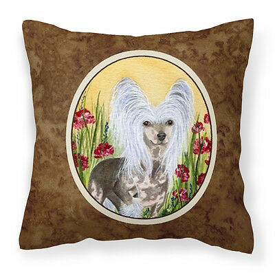 Carolines Treasures  SS8185PW1414 Chinese Crested Decorative   Canvas Fabric Pil
