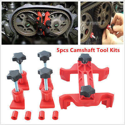 Universal 5pcs Dual Cam Camshaft Engine Timing Sprocket Gear Lock Camshaft Tool