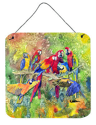 Bird - Parrot Aluminium Metal Wall or Door Hanging Prints 8600