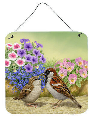 House Sparrows Feeding Time Wall or Door Hanging Prints
