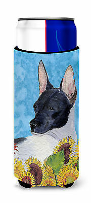 Rat Terrier in Summer Flowers Ultra Beverage Insulators for slim cans