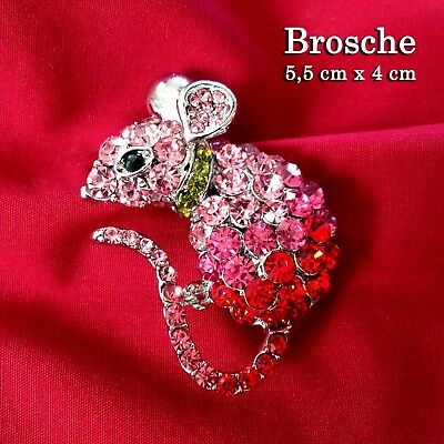 5 cm Maus Brosche Strass Pullover Rock Hose Jeans Buttons Pin Kleid Kinder Baby