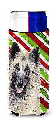 Belgian Tervuren Candy Cane Holiday Christmas Ultra Beverage Insulators for slim