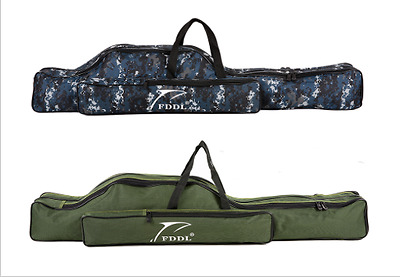 Large Capacity Fishing Rod Carry Bag, Case Gear Holder Tackel Storage and Travel