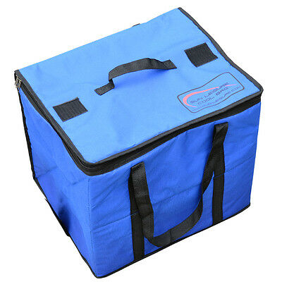Blue Large Insulated Food Drink Cool Portable Camping Travel Box Cooler Bag