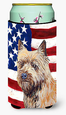 USA American Flag with Cairn Terrier  Tall Boy Beverage Insulator Beverage Insul