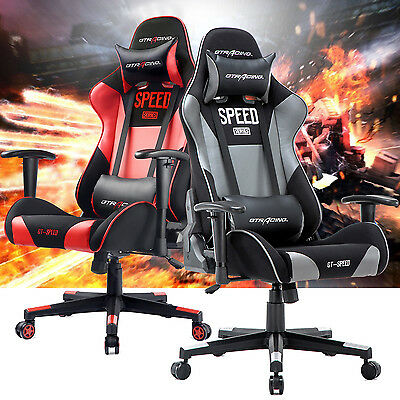 GTRACING Ergonomic Office Racing Chair Backrest and Seat Height Adjustment Chair