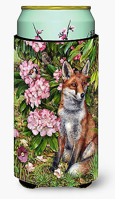 Fox Waiting in Flowers Tall Boy Beverage Insulator Hugger