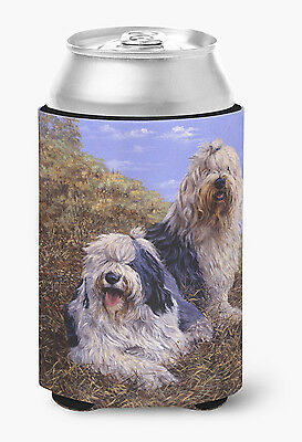 Old English Sheepdogs by Michael Herring Can or Bottle Hugger