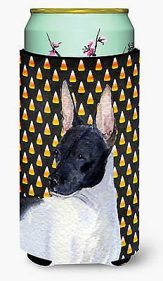 Rat Terrier Candy Corn Halloween Portrait  Tall Boy Beverage Insulator Beverage