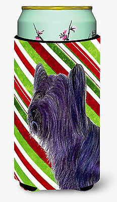 Skye Terrier Candy Cane Holiday Christmas  Tall Boy Beverage Insulator Beverage